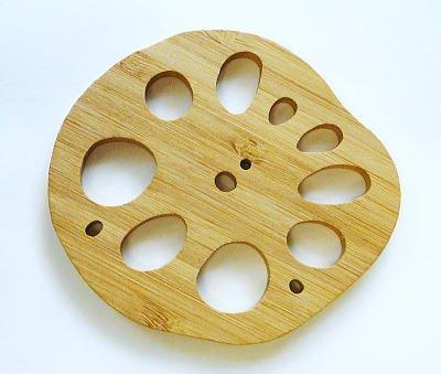 竹のレンコン型コースター