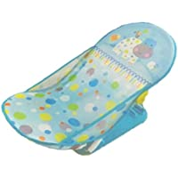 ベビーバスチェア 入浴補助用具 新生児から 11kgまで 乳幼児 お風呂チェア 折りたたみ ソフト バスチェア 3段階 ポジション Deluxe Baby Bather(水色)