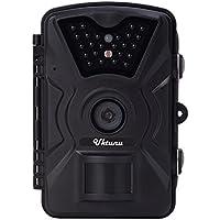Uktunu トレイルカメラ 防犯カメラ 動体検知カメラ 防水カメラ 暗視カメラ 電池式 SDカード録画 赤外線LEDライト搭載 1200万画素 IP56防水仕様 熱体感知 日本語取扱説明書付き