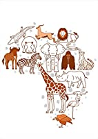 igsticker ポスター ウォールステッカー シール式ステッカー 飾り 420×594㎜ A2 写真 フォト 壁 インテリア おしゃれ 剥がせる wall sticker poster 016062 動物 アフリカ 像 きりん