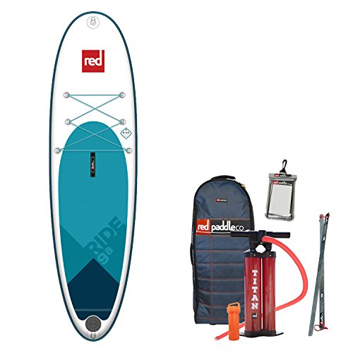 "9'8"" RIDE Red Paddle Co inflatable stand up paddle board SUP"