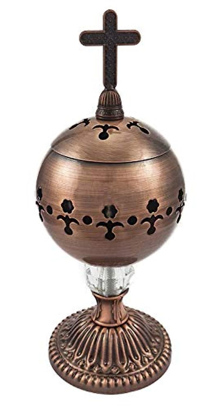 コンピューターゲームをプレイするデンマークグローブ手作りブロンズCenser Polished Brassエルサレム教会Incense Burner Distiller
