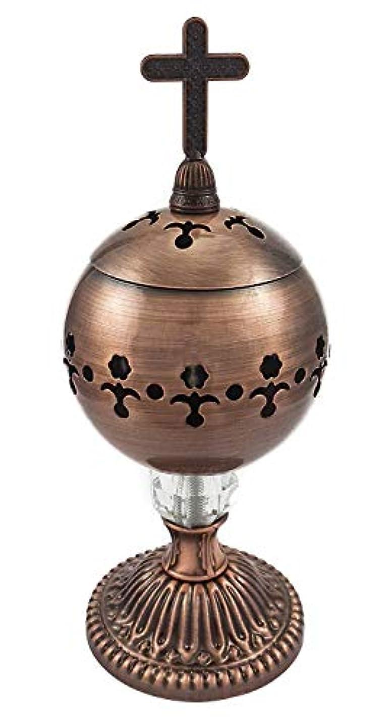 九月メッセージ可能にする手作りブロンズCenser Polished Brassエルサレム教会Incense Burner Distiller
