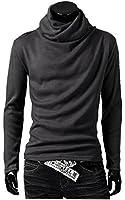 ONE LIMITATION(ワン リミテーション) メンズ タートルネック 長袖 スタイリッシュ アフガン カットソー ロング Tシャツ ON_TN001