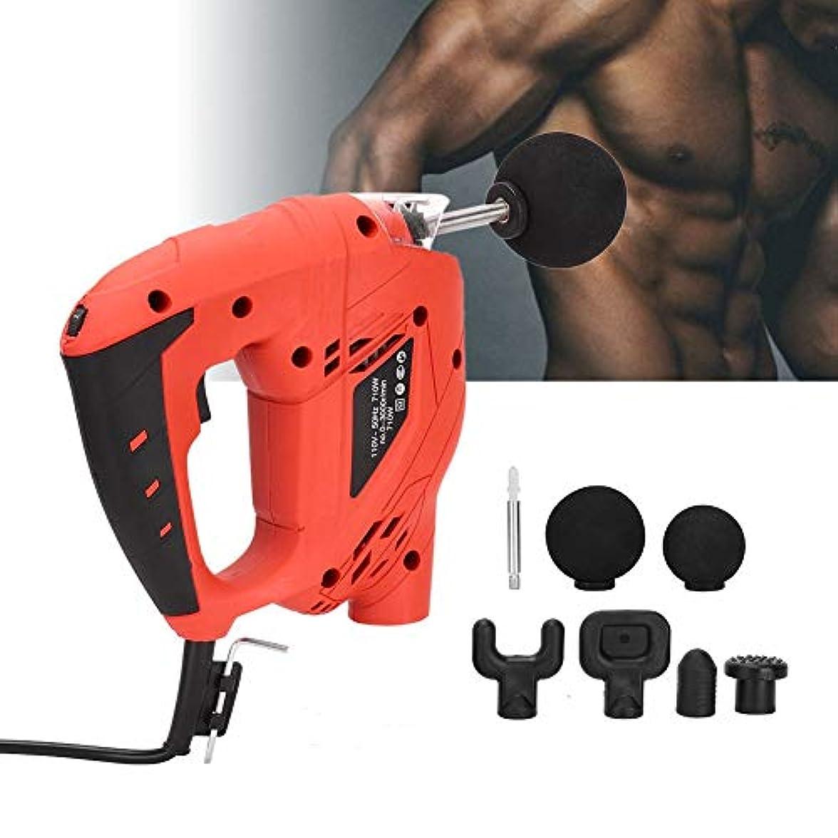 スクリュー実際のシネマ筋肉マッサージ銃、調整可能な速度を備えたプロのハンドヘルド振動マッサージ装置、電動フルボディ筋肉マッサージ機器(US)