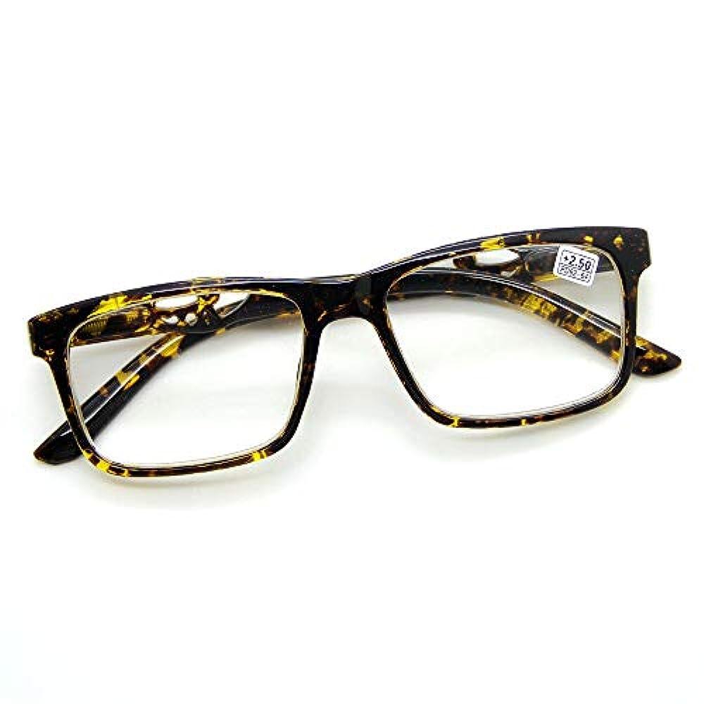 FidgetGear 女性用老眼鏡スプリングヒンジクリアレンズ眼鏡リーダー+1.00 - +4.00 黄色いカメ