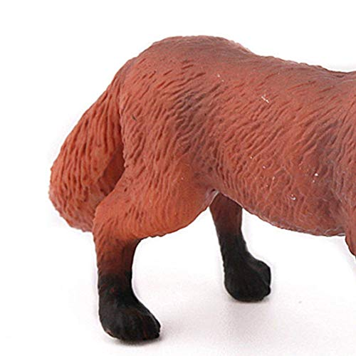 高シミュレーションリアルなかわいい自然野生動物のおもちゃレッドフォックスモデル置物アクションフィギュアキッズ知育玩具家の装飾