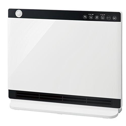 人感/室温センサー付 パネルセラミックヒーター「NEWヒートワイドスリム」 ホワイト CHT-1636WH
