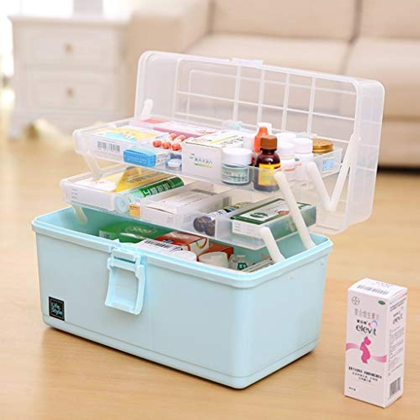言い聞かせる分布思い出BBJOZ 薬品キャビネット、3段医療収納ボックス、透明カバー救急箱救急医療キット (Color : B)