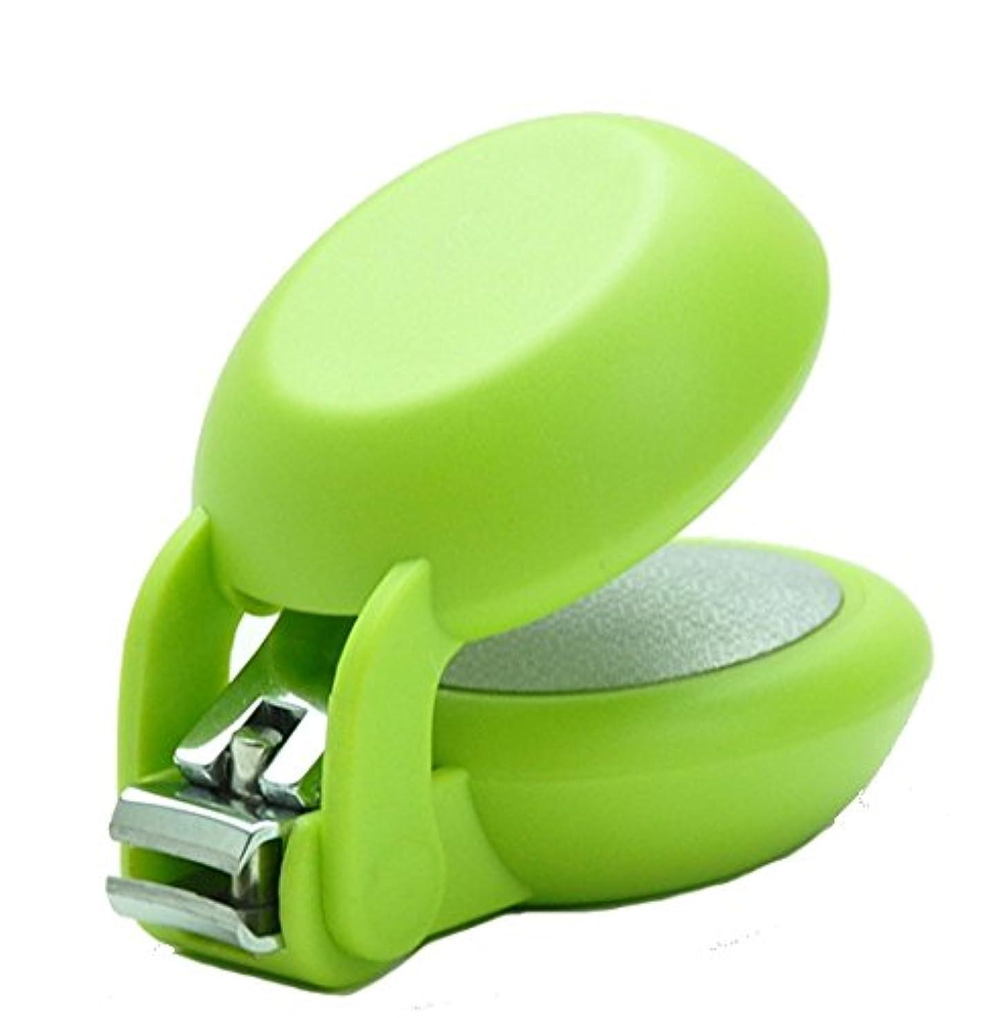ちょっと待ってプロポーショナル有毒爪切り nail clipper (ネイルクリッパー) Nail+ (ネイルプラス) Green (グリーン)