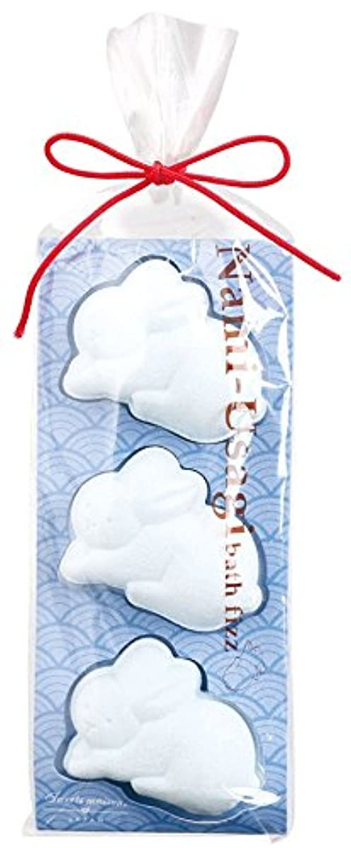 可決魅惑する原点ノルコーポレーション 入浴剤 バスフィズ なみうさぎ 水色 風波 30g OB-SMW-6-5