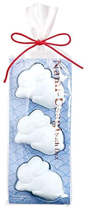 キノコトリッキー教育者ノルコーポレーション 入浴剤 バスフィズ なみうさぎ 水色 風波 30g OB-SMW-6-5