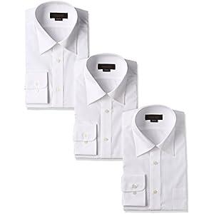 (スティングロード) STINGROAD 形態安定加工ノーアイロン綿高率白長袖レギュラーカラードレスシャツ3枚セット MA1112-AM-3 ホワイト 41-84