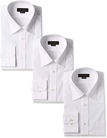 (スティングロード)STINGROAD 形態安定加工ノーアイロン綿高率白長袖レギュラーカラードレスシャツ3枚セット MA1112-AM-3  ホワイト 37-78