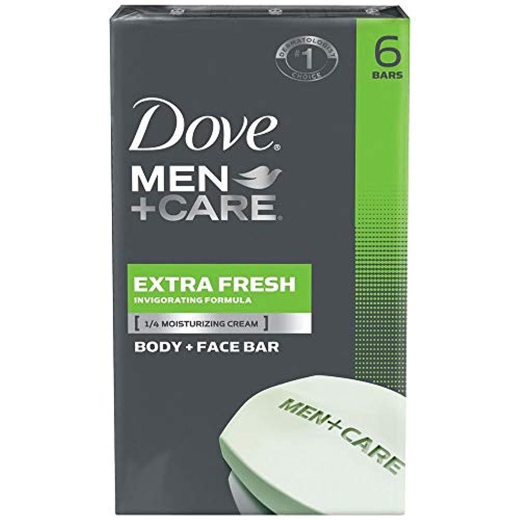 現れる休眠健康Dove 男性+ケアボディ&フェイスバー、エクストラフレッシュ、4.25オズバー、6 Eaは(3パック)