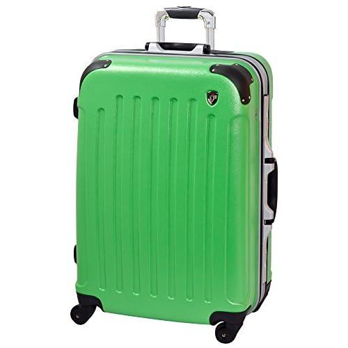 [グリフィンランド]_Griffinland_TSAロック搭載 スーツケース newDL10371 フレーム開閉式 (L(大)型, グリーン)