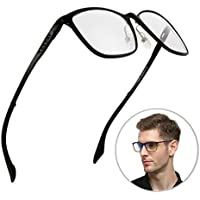 ブルーライトカット メガネ PCメガネ パソコン 度なしSoxick ブルーライトカット90% 目の疲れを軽減 肩こり ストレス解消 おしゃれ 青色光 カット レディース(ブラック2)