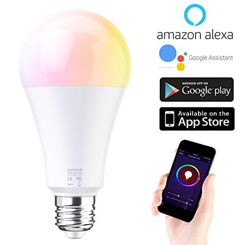 WiFi スマートLED電球 Hombasis E27 照明電球 RGBW ライトスマートハロゲン電球 ワイヤレスタイミングスマート 遠隔操作 調色調光 色温度調整可 スマホ操作 E27口金対応