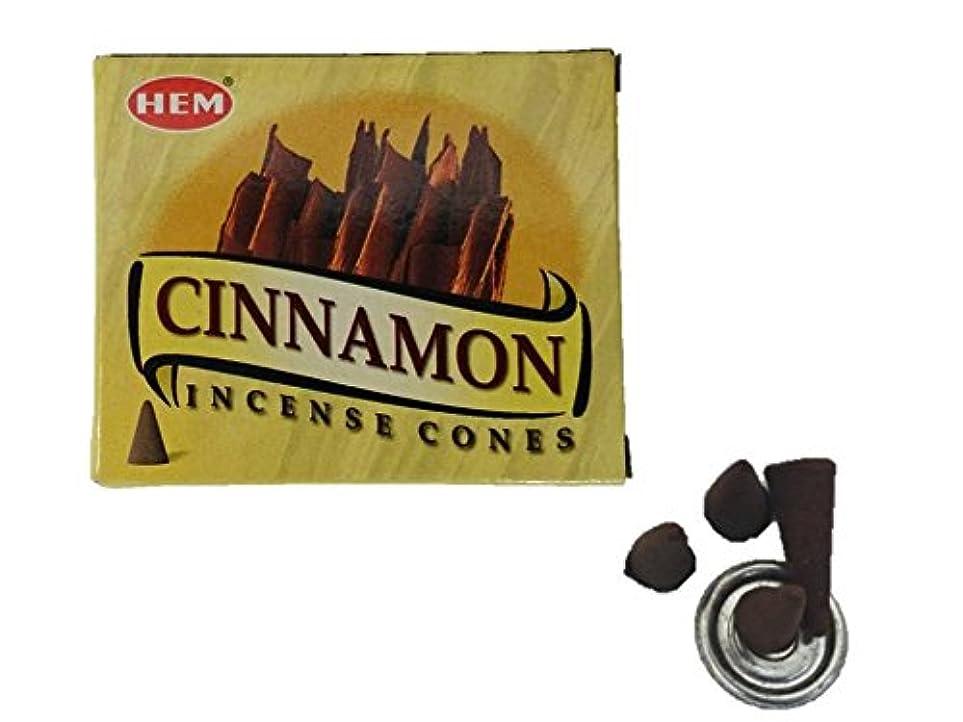 ほこりっぽい下向き市長HEM(ヘム)お香 シナモン コーン 1箱