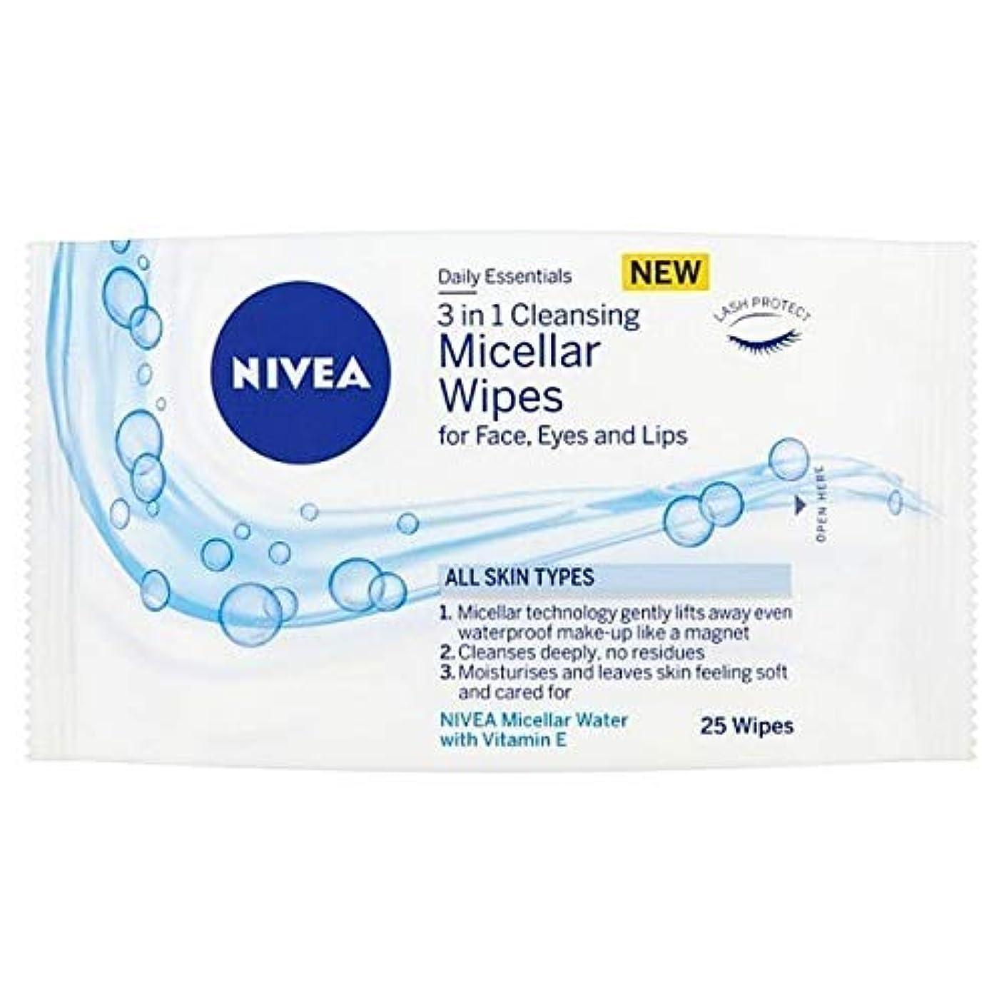 [Nivea ] ニベアミセルクレンジング顔は、25のワイプワイプ - NIVEA Micellar Cleansing Face Wipes, 25 wipes [並行輸入品]