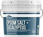 Eucalyptus Epsom Salt (1 Gallon Bucket) by Earthborn Elements, Infused with Eucalyptus Essential Oil, Fight Co