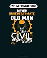 Engineer Notebook: civil engineering civil engineering  College Ruled - 50 sheets, 100 pages - 8 x 10 inches