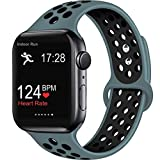 ElaikementSport Band Compatible for Watch Bands 40mm 38mm 44mm 42mm Women Men, Breathable Sporty Replacement Wrist Strap Compatible for Apple Watch Band Series 5/4/3/2/1, All Various Styles, S/M M/L