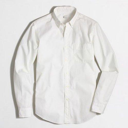 ジェイクルー J.CREW 正規品 メンズ 長袖ボタンダウンシャツ B.D ホワイト 並行輸入品 (コード:4016863801)