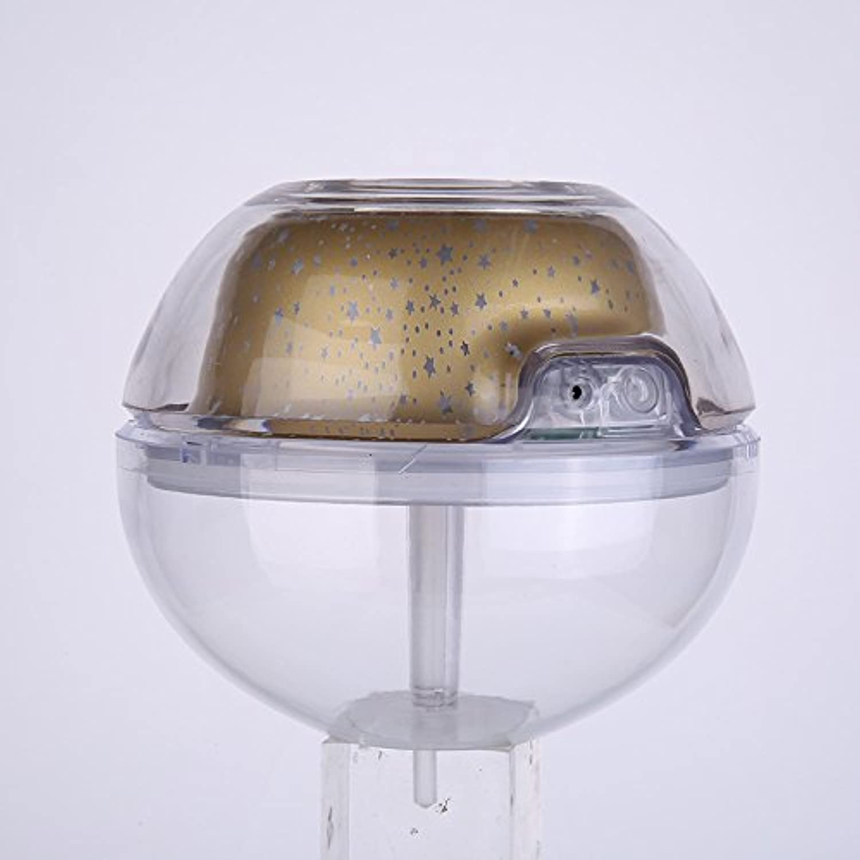 BUCNW home 新クリスタルナイトライトプロジェクション加湿器プロジェクター加湿器ミニUSB加湿器 (Color : Gold)