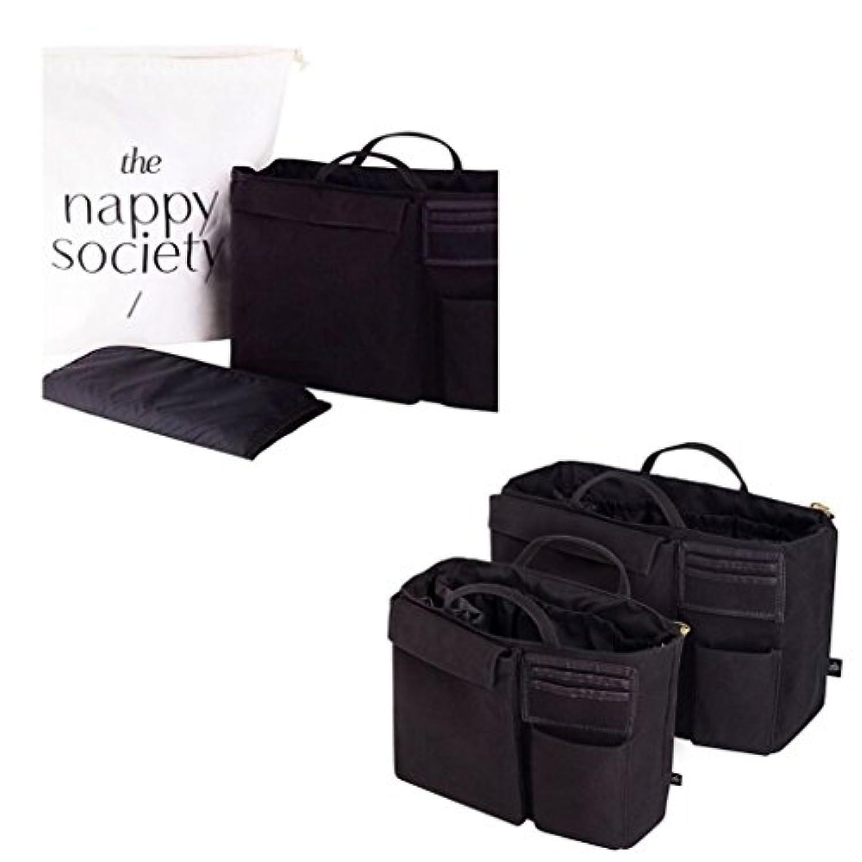 【 スタイリッシュ な オーガナイザー 】 AUS発 THE NSPPY SOCIETY バッグ イン バッグ ブラック (BLACK) L サイズ と タオル の セット [並行輸入品]