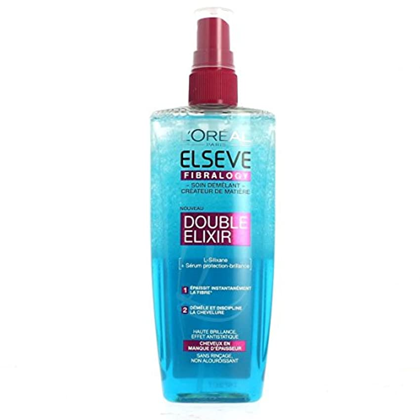矩形プレートれんがELSEVE - Soin démêlant - Fibralogy DOUBLE ELIXIR - 200ml