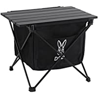 DOD(ディーオーディー) ステルスエックスミニ ゴミを隠すゴミ箱 テーブル機能付き ソロキャンプ用サイズ GM1-598-BK