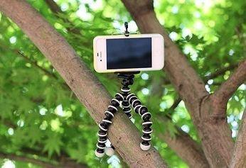 iphone用三脚ホルダー デジカメスタンド スマホ対応 モバイル iphone5 アイフォン5 クネクネ三脚 ノーブランド