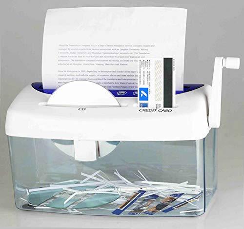 マルチシュレッダー A4紙/ CD/クレジットカード 手動3-in-1多機能 ストリップカット ハンドクランク シュレッダー 学校/家庭/オフィス用