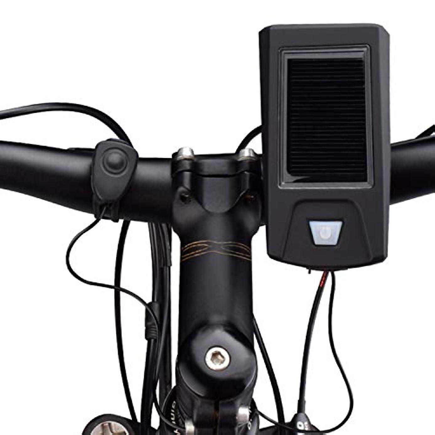 複雑でない虐待調整可能ソーラー充電式自転車ライト、サイクリング用品アクセサリー、ヘッドライトグレア懐中電灯、自転車マウンテンバイクライト