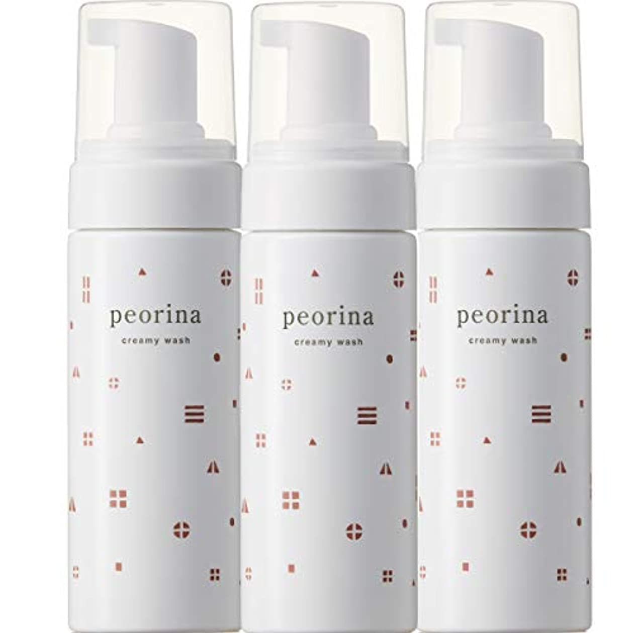 チャペルトレイルいくつかのピオリナ クリーミーウォッシュ 3個セット 泡洗顔料 スキンケア 美肌 高保湿 セラミド 乾燥肌 敏感肌 ニキビ 赤ら顔 ヒト型セラミド