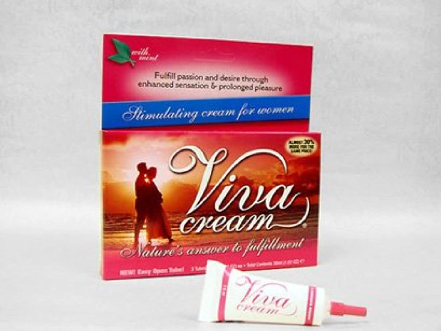 くびれた主流贈り物ビバクリーム Viva Cream (7.5ml) 3本セット