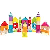 積み木 人気 知育 ビルディング ブロック 50ピース / カラフル カラー 玩具 おもちゃ