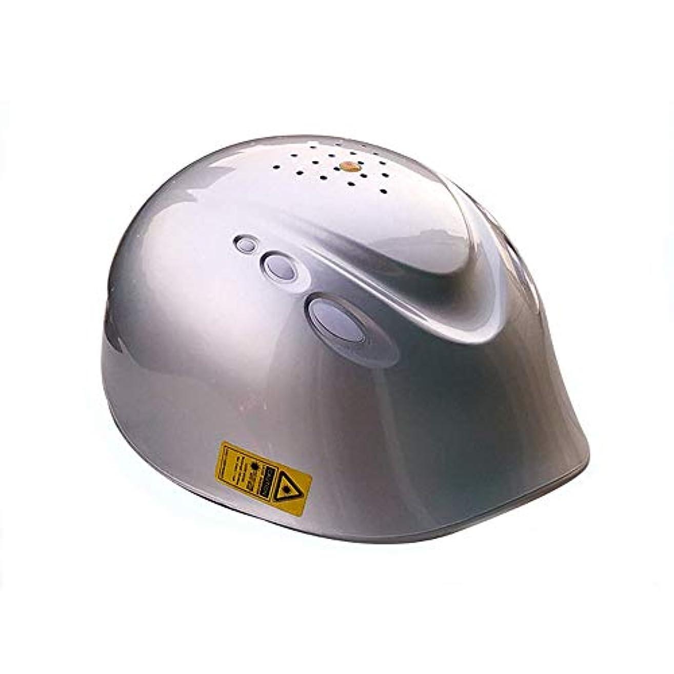 二層胸揃える電気毛ヘルメットマッサージ、日常生活用の脱毛治療,Silver