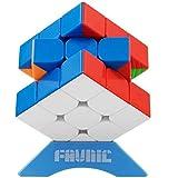 XMD マジックキューブ 磁石 魔方 立体パズル【磁石内蔵】 ポップ防止 ステッカーレス 脳トレ Magnetic Magic Cube (磁石キューブ 3x3)
