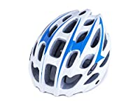 Osize メンズ女性多孔質換気マウンテンバイクヘルメット調整自転車ヘルメット(ホワイト+ブルー)