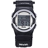 WobL Black 8 Alarm Vibration Reminder Watch