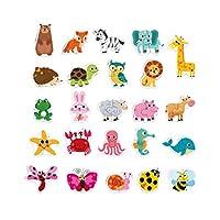 NUOBESTY 木製ジグソーパズル就学前教育学習玩具動物パズル子供のため