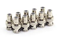 RuiLing 10 Pack RCA Female Plug to BNC Male Jack Adapters Coaxial Connector For CCTV Video [並行輸入品]