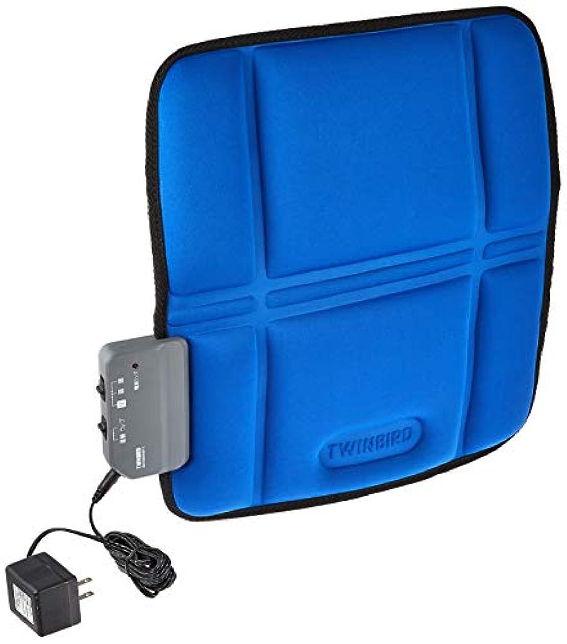 コスチュームメドレー適応するツインバード シートマッサージャーS ブルー EM-2535BL