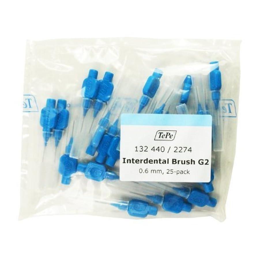 Tepe Blue Interdental Brush 0.6mm 25 Pack by Tepe Interdental Brush g2 [並行輸入品]