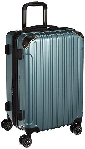 [ワイズリー] 超軽量双輪スーツケース 22インチ(拡張タイプ) コーナーパッド付き TSAロック 338-2201 32 ブルー