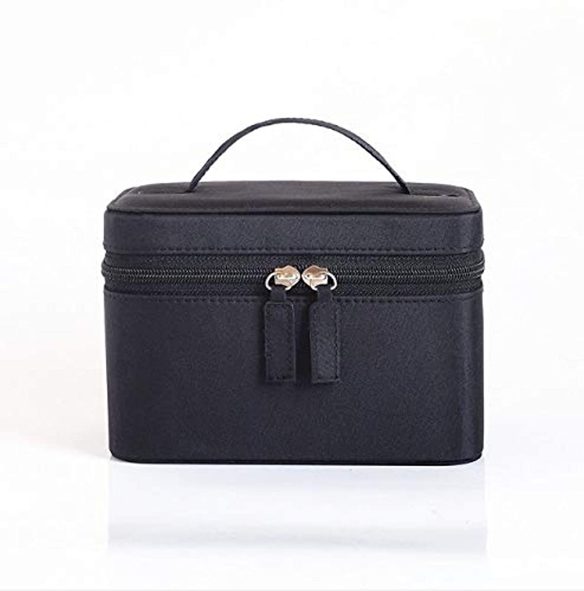 平らな買い手パンサー化粧品ケース、大容量防水三次元ポータブル旅行化粧品袋収納袋、美容ネイルジュエリー収納ボックス