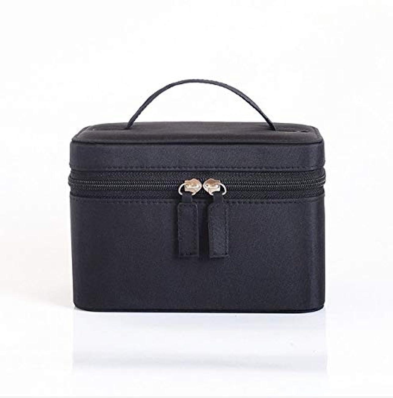 化粧品ケース、大容量防水三次元ポータブル旅行化粧品袋収納袋、美容ネイルジュエリー収納ボックス