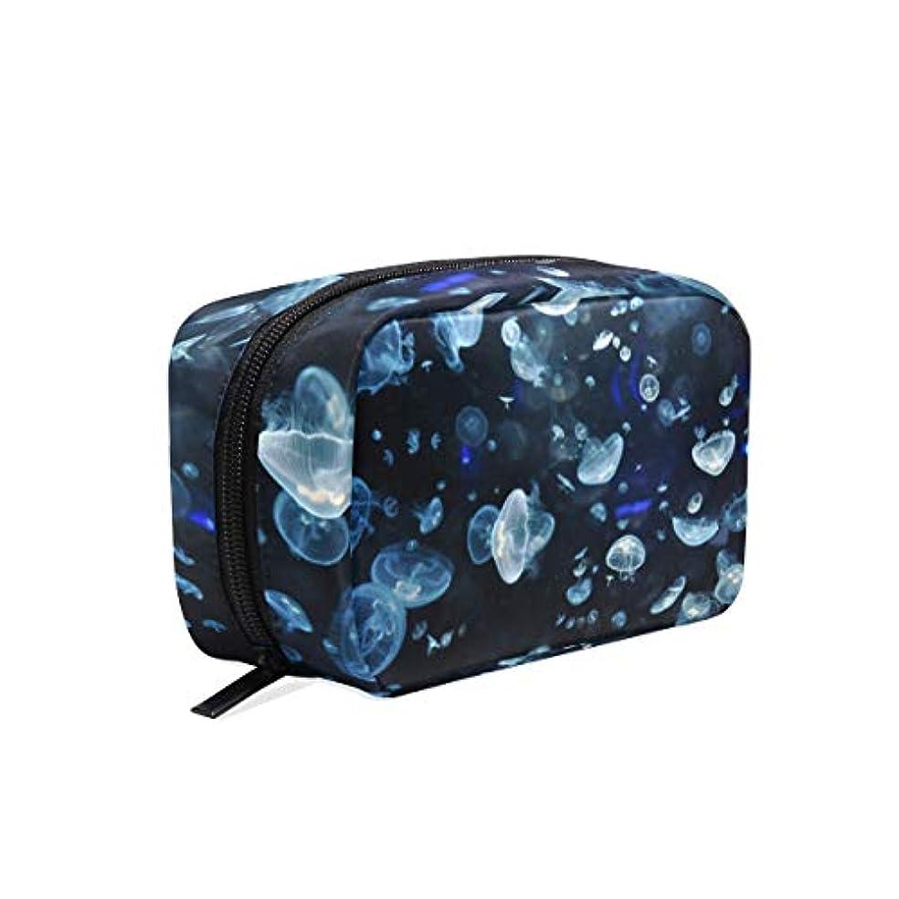パーツ呪われたカメラクラゲ 柄 化粧ポーチ メイクポーチ 機能的 大容量 化粧品収納 小物入れ 普段使い 出張 旅行 メイク ブラシ バッグ 化粧バッグ